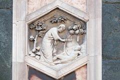 亚当,佛罗伦萨大教堂的创作 库存图片