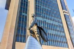 亚当・卡里顿鲍威尔雕象- NYC 库存照片
