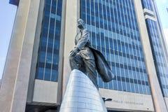 亚当・卡里顿鲍威尔雕象- NYC 免版税库存照片