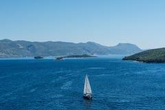 亚得里亚海乘快艇 免版税库存照片