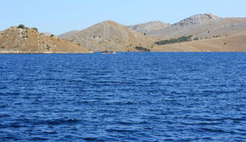 亚得里亚海海岛横向 免版税库存图片