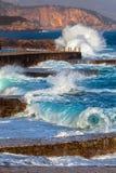 亚得里亚海海浪 库存照片