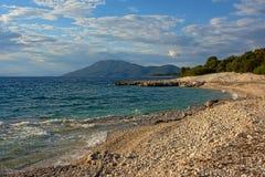 亚得里亚海海滩 免版税库存图片