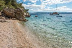 亚得里亚海的克罗地亚海运 免版税库存照片