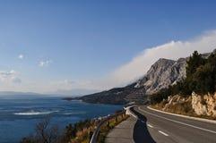 亚得里亚海的克罗地亚途径 库存照片