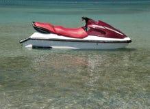 亚得里亚海的喷气机海运滑雪 免版税库存图片
