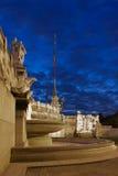 亚得里亚海的喷泉意大利罗马海运 库存照片