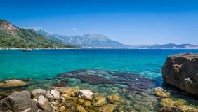 亚得里亚海的夏日海风景 免版税库存图片