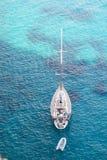 亚得里亚海的小船克罗地亚海运游艇 免版税库存图片