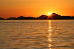 亚得里亚海的日落 免版税库存照片