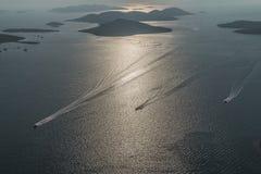 亚得里亚海的横向天线 免版税图库摄影