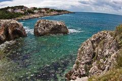 亚得里亚海的海岸线 库存照片