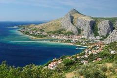 亚得里亚海的海岸 免版税库存照片