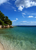 亚得里亚海的海滩克罗地亚海运 免版税库存图片