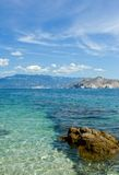 亚得里亚海的海滩海运 免版税库存照片