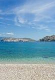 亚得里亚海的海滩海运 免版税库存图片