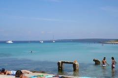 亚得里亚海的海滩 免版税库存图片