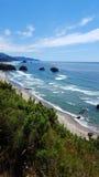 亚得里亚海的海滩意大利海运视图 库存图片