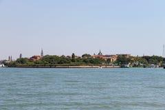 亚得里亚海的看法在Vienice附近的 免版税库存照片