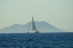 亚得里亚海的风船航行海运 库存照片