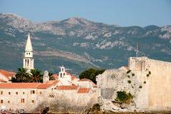亚得里亚海的budva montenegro海运 免版税库存图片