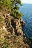 亚得里亚海的clifs 免版税库存照片