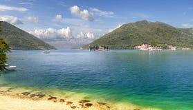 亚得里亚海科托尔海湾  montenegro perast 库存图片