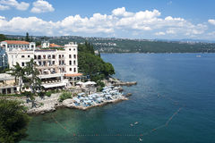 亚得里亚海风景视图 免版税库存图片