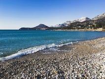 亚得里亚海 黑山 库存图片