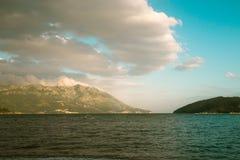 亚得里亚的海岸线 免版税库存图片