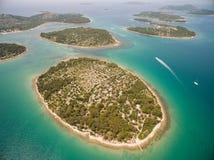 亚得里亚,克罗地亚空中照片  库存图片