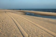 亚斯塔尔尼亚海滩在冬天 库存照片