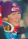 亚斯本,共同的11月25日: FIS Audi Worldcup障碍滑雪 库存图片