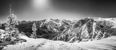 亚斯本Snowmass, CO 免版税库存照片
