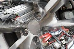 亚斯顿马丁超级引擎 免版税库存照片