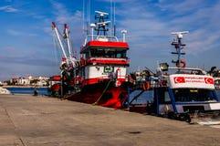 亚洛瓦土耳其渔夫海湾  库存图片