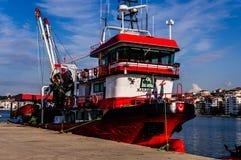 亚洛瓦土耳其渔夫海湾  库存照片