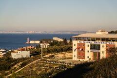 亚洛瓦大学在Cinarcik镇乡下-土耳其 免版税图库摄影
