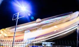 亚洛瓦市在夏夜里-土耳其游艺集市  免版税库存照片