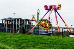 亚洛瓦市空的游艺集市  库存图片