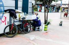 亚洛瓦市-土耳其街道的平凡的人  库存图片