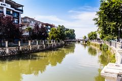 亚洛瓦市-土耳其都市水道  图库摄影