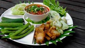 亚洲、泰国、泰国食物、艺术文化和娱乐,辣椒 免版税库存照片