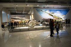 亚洲中国,北京,军事博物馆,室内展览室, 库存图片