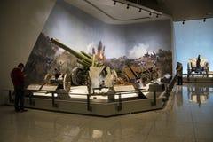 亚洲中国,北京,军事博物馆,室内展览室 免版税库存照片