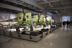 亚洲中国,北京,军事博物馆,室内展览室 库存图片