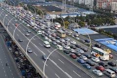 亚洲交通堵塞 免版税库存图片