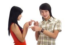 亚洲人二个年轻人 免版税库存照片