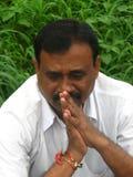 亚洲人祈祷 免版税图库摄影