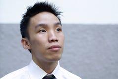 亚洲令人想往的行政查找男  免版税库存图片